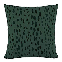 Skyline Furniture Linen Leopard Square Throw Pillow in Green