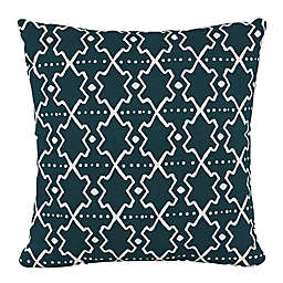 Skyline Furniture Mud Cloth Square Throw Pillow in Green