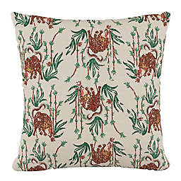 Skyline Furniture Tiger Bamboo Square Throw Pillow in Cream