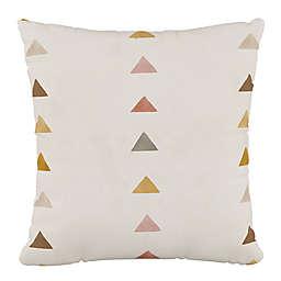 Skyline Furniture Peak Square Throw Pillow in Mustard