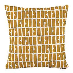 Skyline Furniture Bloc Panel Square Throw Pillow in Mustard