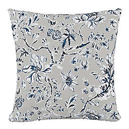 Skyline Furniture Indian Block Print Square Throw Pillow in Grey