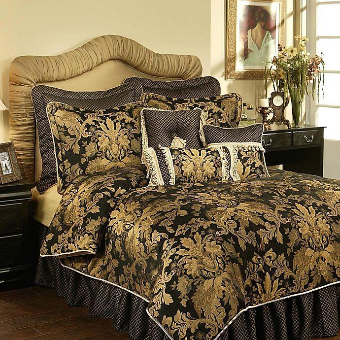 Alternate image 1 for Austin Horn Classics Verona 4-Piece California King Comforter Set in Black