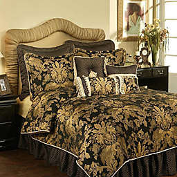 Austin Horn Clics Verona 4 Piece Comforter Set In Black