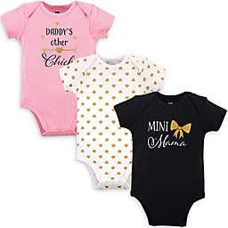 Hudson Baby® Size 18-24M 3-Pack Mini Mama Short Sleeve Bodysuits in Black
