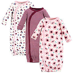 Touched by Nature® Size 0-6M 3-Pack Blush Organic Cotton Kimono Gowns in Pink