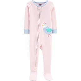 carter's® Chicken Snug Fit Zip-Front Footed Pajama in Pink
