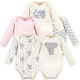 Touched by Nature® 5-Pack Organic Cotton Long Sleeve Bodysuits in Pink