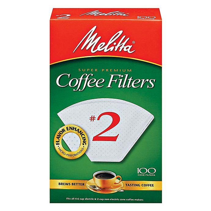 Alternate image 1 for Melitta® 100-Count Number 2 White Super Premium Coffee Filters