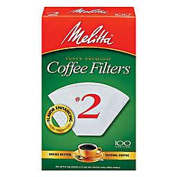Melitta® 100-Count Number 2 White Super Premium Coffee Filters