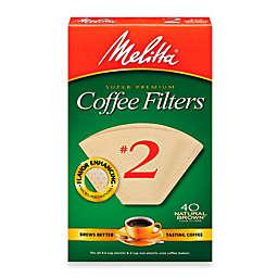 Melitta® 40-Count Number 2 Natural Brown Super Premium Coffee Filters