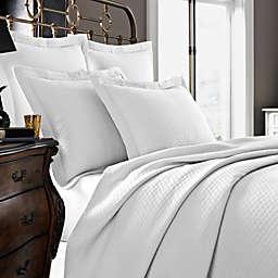 Kassatex Diamante Collection Pillow Sham in White