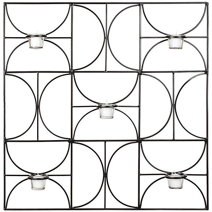 Alternate image 1 for Safavieh Roxy Votive 28.3-Inch Square Wall Decor in Black
