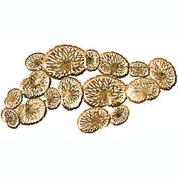 Safavieh Coral Plate 38-Inch x 18-Inch Wall Decor in Gold