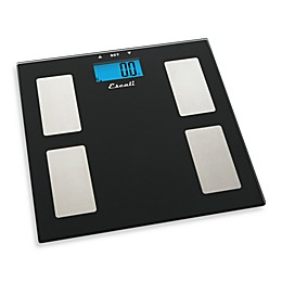 Escali® Glass Body Fat, Water, Muscle Mass Bathroom Scale