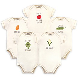 Touched by Nature 5-Pack Corn Organic Cotton Bodysuits