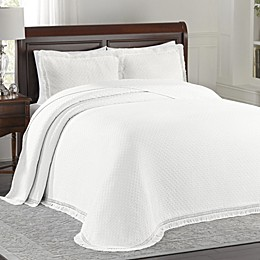 Lamont Home™ Woven Jacquard Bedspread in White