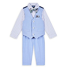 Nautica® 4-Piece Shirt, Vest, Bow Tie, and Pant Set in Oxford Blue
