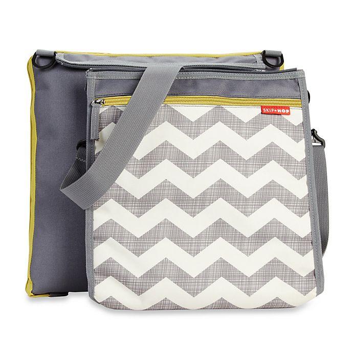 Alternate image 1 for SKIP*HOP® Central Park Outdoor Blanket and Cooler Bag in Chevron