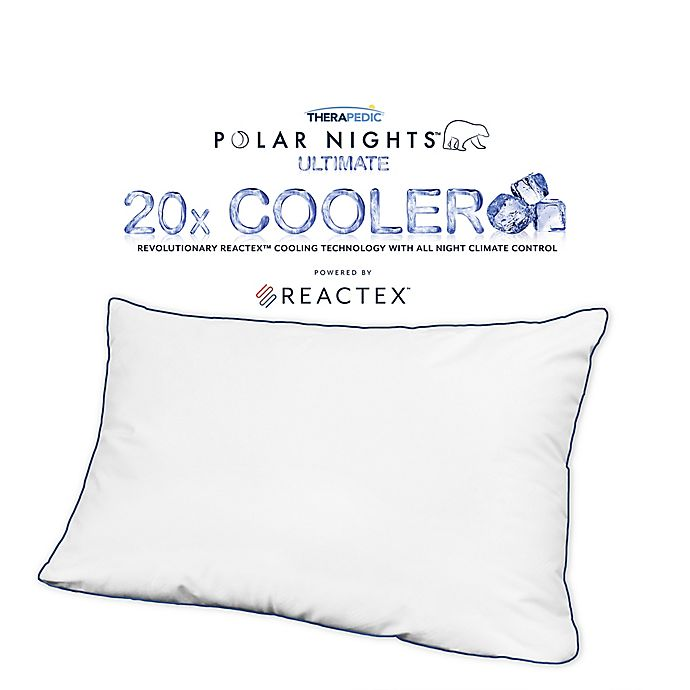 Alternate image 1 for Therapedic® Polar Nights™ 20x Cooling Down Alternative Standard/Queen Pillow