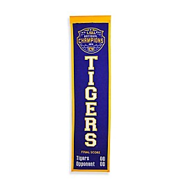 Louisiana State University 2019 NCAA Football National Champions Heritage Banner