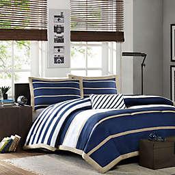 Mi Zone Ashton Comforter Set in Navy