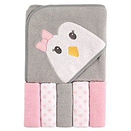 Luvable Friends® 2-Piece Hooded Towel and Washcloth Set