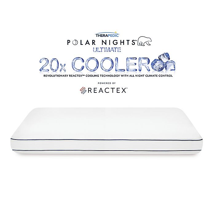 Alternate image 1 for Therapedic® Polar Nights™ 20x Cooling Memory Foam Bed Pillow