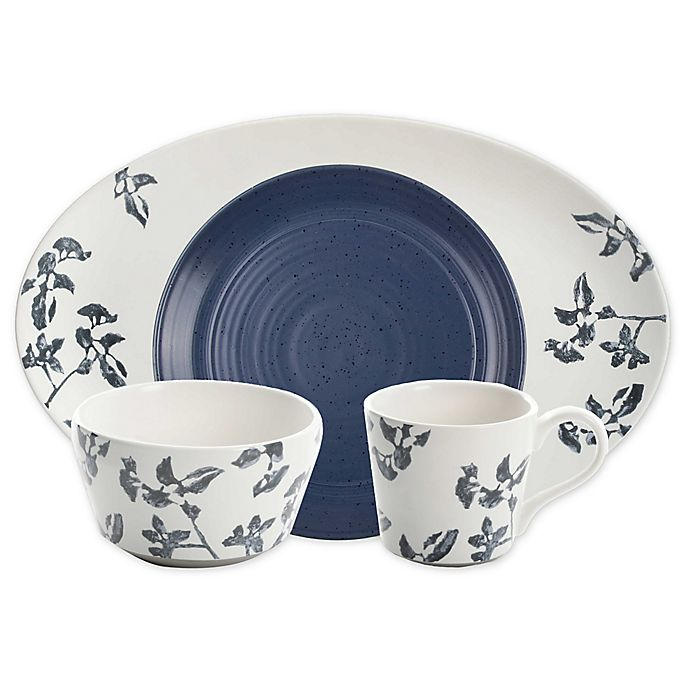 Alternate image 1 for Bee & Willow™ Home Milbrook Dinnerware Collection in Blue Floral