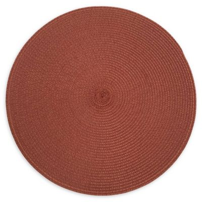 ELEGANT Metallic Tan Embroidered Pumpkin Placemat SET OF 6
