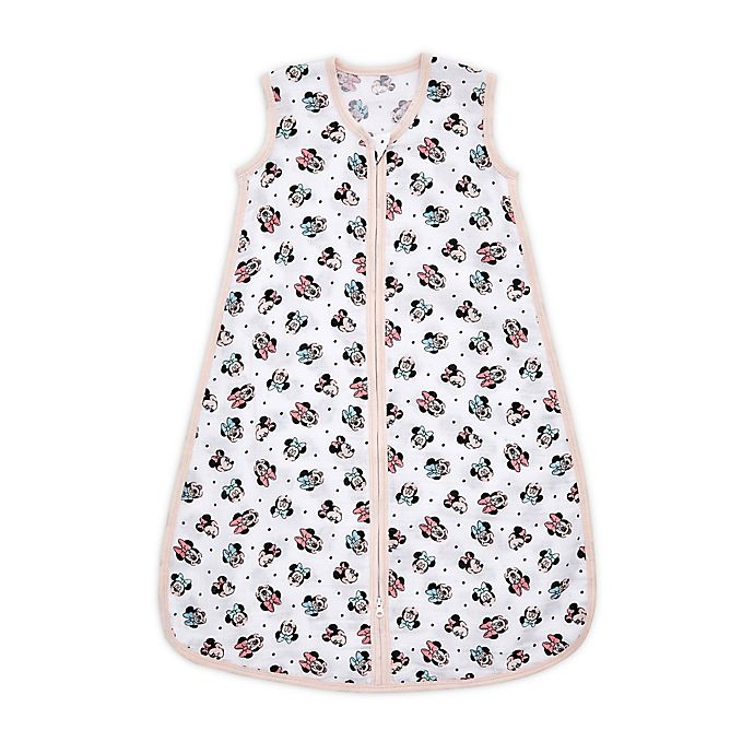 Alternate image 1 for aden + anais™ essentials Extra Large Disney® Minnie Wearable Sleeping Bag in Pink