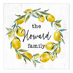 Lemon Wreath 16-Inch x 16-Inch Personalized Canvas
