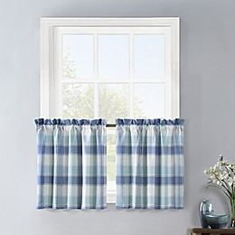 Colordrift Lloyd Stitch 2-Pack Window Curtain Tiers in Blue