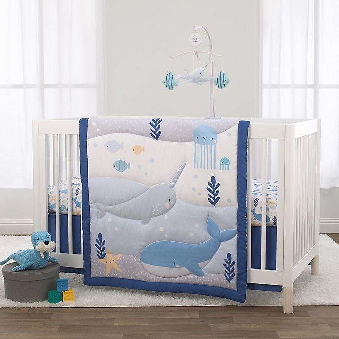 Alternate image 1 for Little Love By NoJo® 3-Piece Underwater Adventure Crib Bedding Set in Light Blue