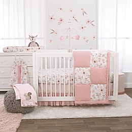 NoJo® Countryside Floral 4-Piece Printed Crib Bedding Set in Pink