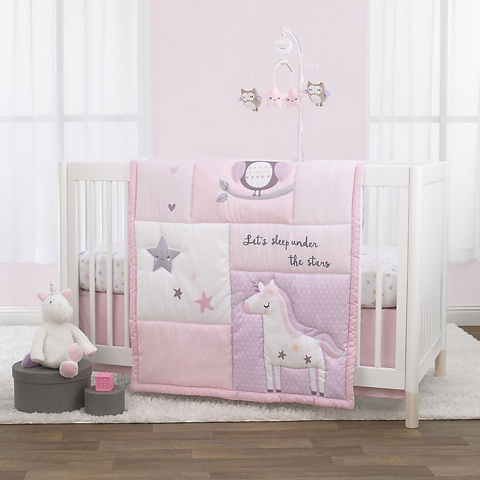 Alternate image 1 for Little Love by NoJo® Shine On My Love 3-Piece Crib Bedding Set in Pink