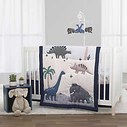 Little Love by NoJo® Modern Roaming Woolly Mammoth Crib Bedding Set in Blue