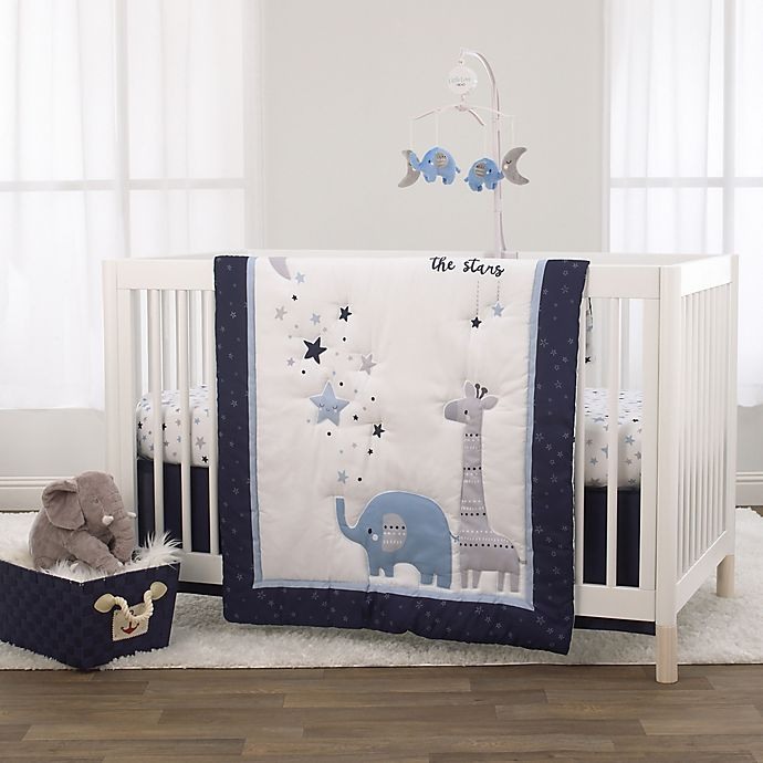 Alternate image 1 for Little Love by NoJo® Shine On My Love 3-Piece Crib Bedding Set in Navy