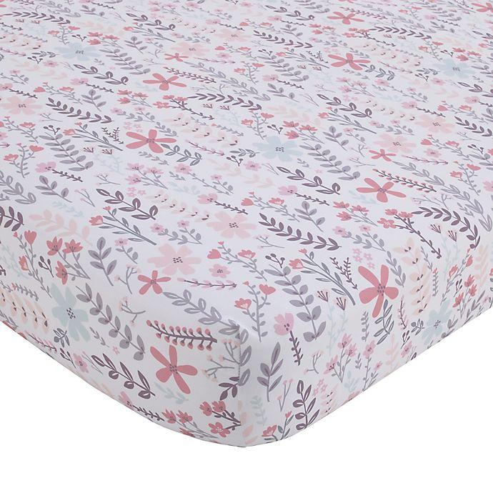 Alternate image 1 for Little Love by NoJo® Desert Flower Fitted Crib Sheet in Pink