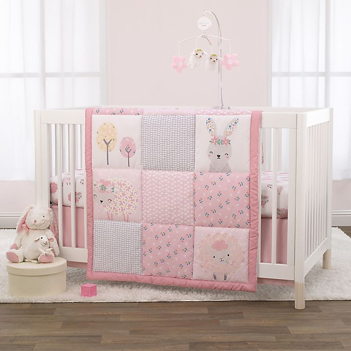 Alternate image 1 for Little Love by NoJo® Farm Chic 3-Piece Crib Bedding Set in Pink