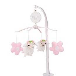 Little Love by Nojo Farm Chic Musical Mobile in Pink