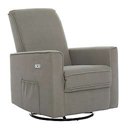 évolur Harlow Deluxe Power Glider Recliner in Smokey Blue