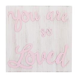 Little Love by NoJo Wood Nursery Wall Decor in Pink
