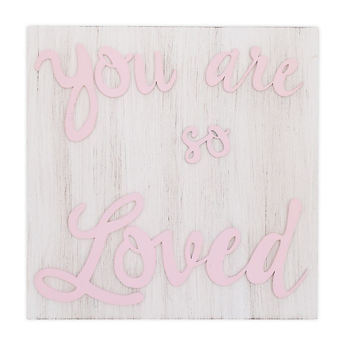 Alternate image 1 for Little Love by NoJo Wood Nursery Wall Decor in Pink
