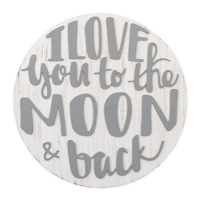 Alternate image 1 for Little Love by NoJo Wood Nursery Wall Decor in Grey