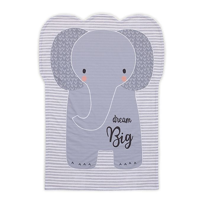 Alternate image 1 for Little Love by NoJo Elephant Shaped Polyester Baby Blanket in Grey