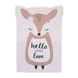 Little Love by NoJo Deer Shaped Polyester Baby Blanket in Grey