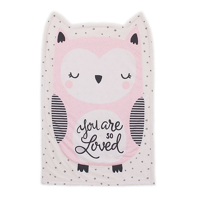 Alternate image 1 for Little Love by NoJo Owl Shaped Polyester Baby Blanket in Pink