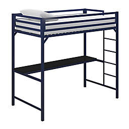 Miles Metal Twin Loft Bed with Desk