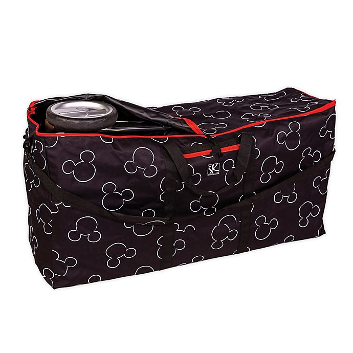 Alternate image 1 for J.L. Childress Disney Baby® Gate Check Travel Bag for Single and Double Strollers in Black